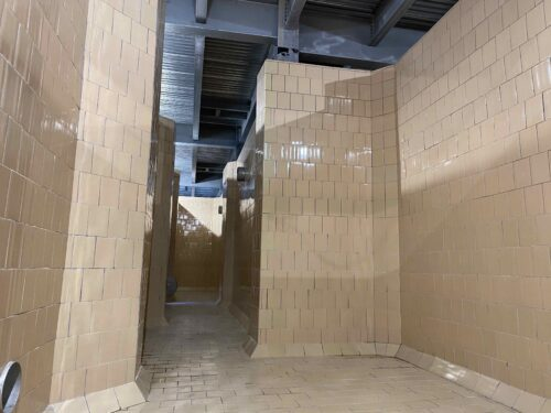 tile interior of paper mulch tank