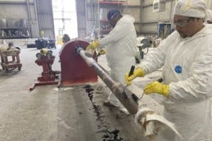 Winding fiberglass pipe for paper mill outage