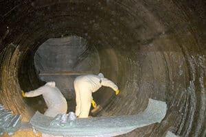 installing fiberglass in circulating water line